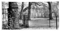 The Gates Of The Old Sheldon Church Hand Towel
