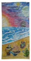 The Gathering Hand Towel by Thomasina Durkay