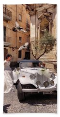 Hand Towel featuring the photograph The Runaway Bride.taranto. Italy by Jennie Breeze