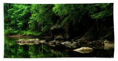 The Ghost Hole Williams River Hand Towel by Thomas R Fletcher