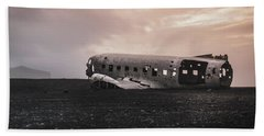 The Ghost - Plane Wreck In Iceland Hand Towel