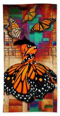 Bath Towel featuring the mixed media The Gift Of Life by Marvin Blaine