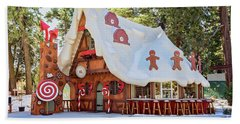 The Gingerbread House Hand Towel by Eddie Yerkish