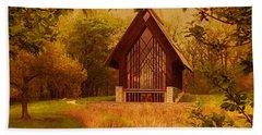 The Glass Chapel At Powell Gardens - Kansas City, Missouri Hand Towel