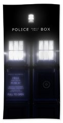 The Glass Police Box Bath Towel
