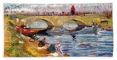 The Gleize Bridge Over The Vigneyret Canal  Bath Towel