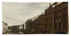 The Golden Bend In The Herengracht, Amsterdam, Seen From The West, 1672 Hand Towel