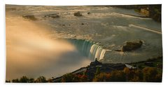 The Golden Mist Of Niagara Hand Towel