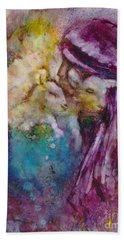 Bath Towel featuring the painting The Good Shepherd by Deborah Nell