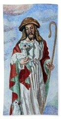 The Good Shepherd Bath Towel by Susan Duda