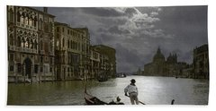 The Grand Canal Venice By Moonlight Bath Towel