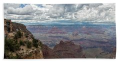 Bath Towel featuring the photograph The Grand Canyon And Lookout Studio by Kirt Tisdale