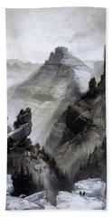 The Grand Canyon Drawing            Hand Towel by Thomas Moran