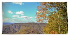 Hand Towel featuring the photograph The Grand Finale - Autumn At Pipestem State Park by Kerri Farley