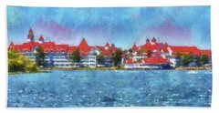 The Grand Floridian Resort Wdw 03 Photo Art Mp Hand Towel