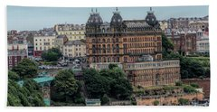The Grand Hotel Scarborough Bath Towel by David  Hollingworth