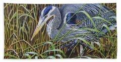 The Great Blue Heron Bath Towel