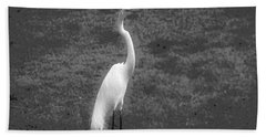 The Great Egret Bath Towel