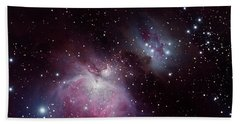 Bath Towel featuring the photograph The Great Nebula In Orion by Alan Vance Ley