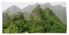 The Great Wall Of China Winding Over Mountains Bath Towel