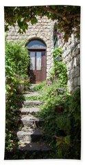 The Green Entrance Hand Towel by Yoel Koskas