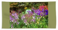 Hand Towel featuring the photograph Hiding In The Garden by Thom Zehrfeld
