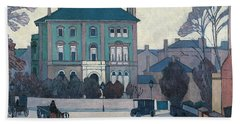 The Green House, St John's Wood Hand Towel by Robert Bevan