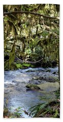 The Green Seen Hand Towel by Marie Neder