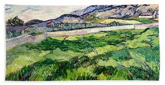 The Green Wheatfield Behind The Asylum Hand Towel
