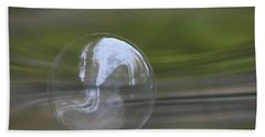 Hand Towel featuring the photograph The Greens Bubble by Cathie Douglas