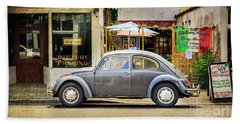 The Grey Beetle Hand Towel by Craig J Satterlee
