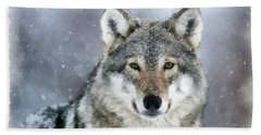 The Grey Wolf Hand Towel