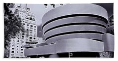 The Guggenheim Black And White Hand Towel