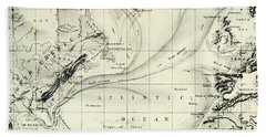 The Gulf Stream Of The Atlantic Ocean Hand Towel