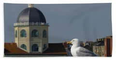 The Gull And The Dome Bath Towel