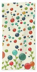 The Gumdrop Garden Bath Towel by Deborah Smith