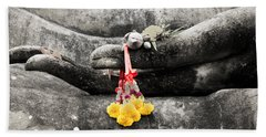 Bath Towel featuring the photograph The Hand Of Buddha by Adrian Evans