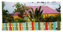 Bath Towel featuring the photograph The Happy House, Island Of Curacao by Kurt Van Wagner