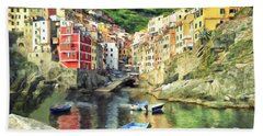 The Harbor At Rio Maggiore Hand Towel