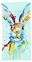 The Hare Bath Towel by Steven Ponsford