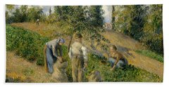 The Harvest, Pontoise, 1881  Hand Towel by Camille Pissarro