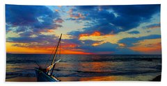 The Hawaiian Sailboat Bath Towel by Michael Rucker
