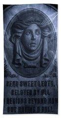 The Headstone Of Madame Leota Bath Towel