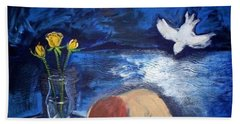 Bath Towel featuring the painting The Healing by Winsome Gunning