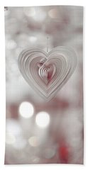 The Heart. Silver Bath Towel