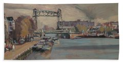 Bath Towel featuring the painting The Hef Rotterdam by Nop Briex