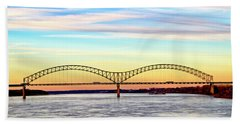 The Hernando De Soto Bridge Bath Towel
