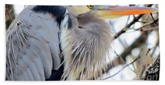 The Heron In Winter  Hand Towel