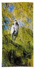 The Heron's Whiskers Bath Towel