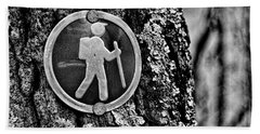 The Hiking Sign Bath Towel